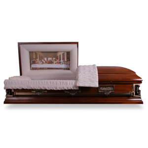 The Last Supper Casket. Save £900 with our Discount Caskets